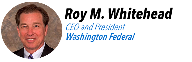 Roy M. Whitehead, CEO and President of Washington Federal.