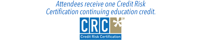 Attendees receive one Credit Risk Certification continuing education credit.