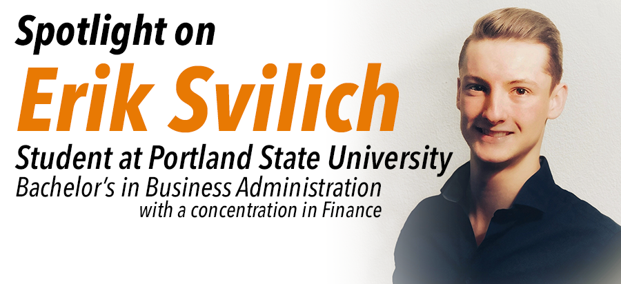 Spotlight on Erik Svilich: Student at Portland State University.
