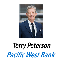 Terry Peterson, Pacific West Bank